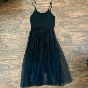 Dresses & Skirts - Black dress with tulle skirt